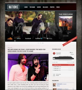 1. Grammy WordPress Theme