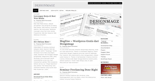 1. Magazine WordPress Theme