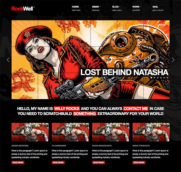 10. RockWell WordPress Theme