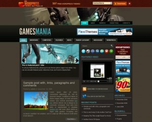 3. GamesMania WordPress Theme