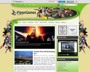 4. PlanetGames WordPress Theme