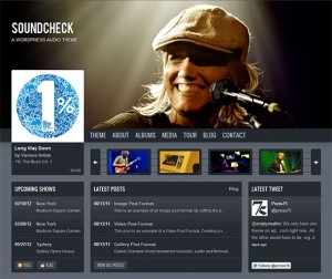 4. SoundCheck WordPress Theme