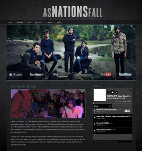 5. Dark & Gritty WordPress Theme