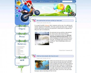 5. Super Mario Land WordPress Theme