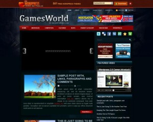 6. GameWorld WordPress Theme