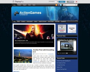 7. ActionGames WordPress Theme