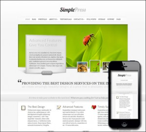 7. SimplePress WordPress Theme