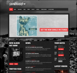 7. Soundboard WordPress Theme