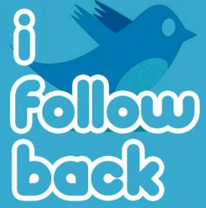 9. Follow people then follow back