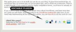 9. Sociable A Social Networking Plugin
