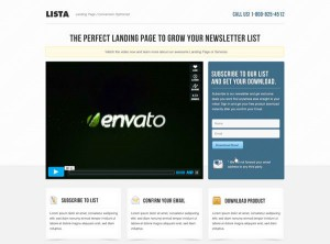 1. Lista Landing Page