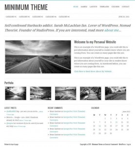 10 Minimum WordPress Theme