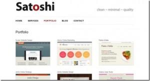 10 Satoshi WP Minimal Theme