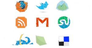 10 Web 2. Origami Social Media Icons