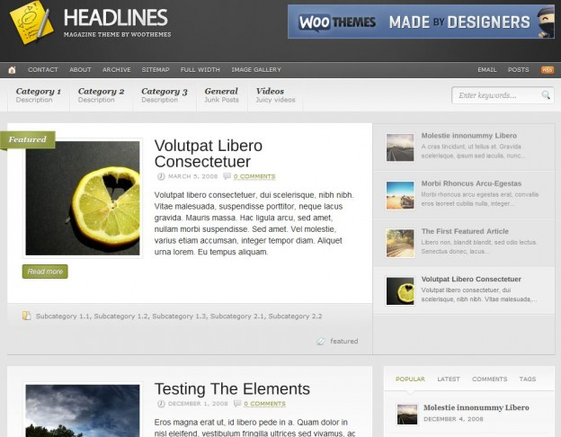 10.Headlines Theme
