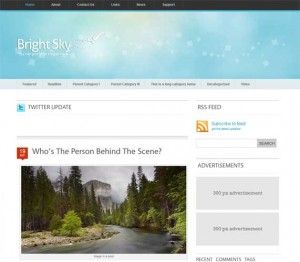 3 Bright Sky WordPress Minimal Theme