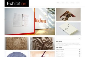 4 Exhibition WordPress Minimal Theme