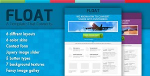 4. Float Landing Page