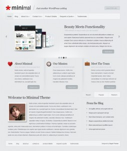 5 Minimal WordPress Theme