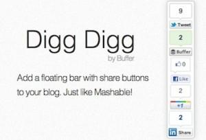 9.Digg Digg Social Sharing