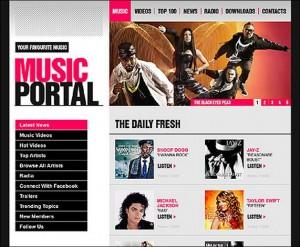 2. Music Portal WordPress Theme