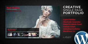 3. Creative Single Page Portfolio