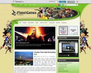 4. PlanetGames WordPress Theme
