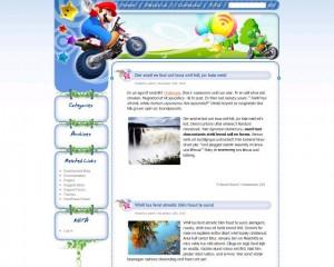 5. Super Mario Land WordPress Theme