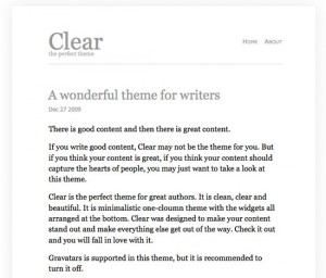 6. Clear WordPress Theme