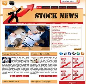 7. Stock News WordPress Theme