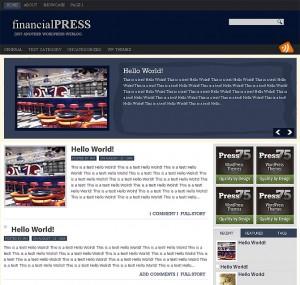 8. Financial Press WordPress Theme