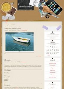9. Desk Mess WordPress Theme