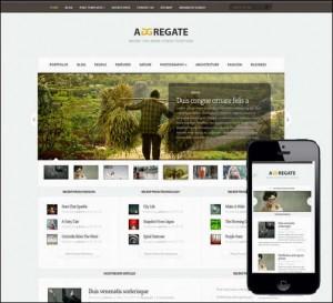 Aggregate Responsive Newsletter Theme for WordPress