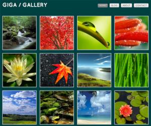 Giga Gallery Blog for WordPress