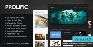 Prolific A Modern WordPress Portfolio Theme