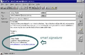 2.Make use of your email signature to create a link to your AdSense site
