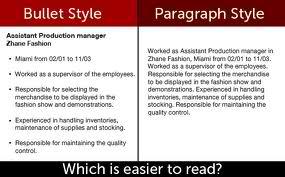 7 Lists vs. paragraphs.